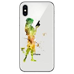 Недорогие Кейсы для iPhone-Кейс для Назначение Apple iPhone X iPhone 8 Прозрачный С узором Кейс на заднюю панель Соблазнительная девушка Мягкий ТПУ для iPhone X