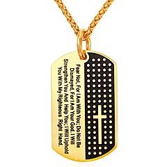 preiswerte Halsketten-Herrn Damen Geometrisch Anhängerketten - Edelstahl Modisch Gold, Silber 55 cm Modische Halsketten Schmuck Für Alltag