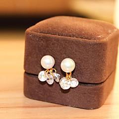 お買い得  イヤリング-クリップイヤリング  -  真珠 ドロップ シンプル, 韓国語, エレガント シルバー 用途 結婚式 贈り物