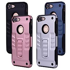 Недорогие Кейсы для iPhone 7 Plus-Кейс для Назначение Apple iPhone 8 iPhone 7 Защита от удара со стендом Кейс на заднюю панель Однотонный Твердый ПК для iPhone 8 Pluss