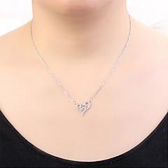 preiswerte Halsketten-Damen Kubikzirkonia Anhängerketten - Herz, Stern Europäisch, Modisch Gold, Silber, Rotgold 40 cm Modische Halsketten Schmuck Für Normal, Alltag