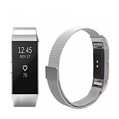 ieftine -Uita-Band pentru Fitbit Charge 2 Fitbit Banderola Sport / Curea Milaneza Oțel inoxidabil Curea de Încheietură