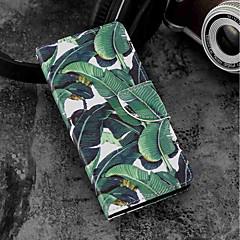 Недорогие Чехлы и кейсы для Sony-Кейс для Назначение Sony Xperia XZ2 / Xperia XZ2 Compact Бумажник для карт / Кошелек / со стендом Чехол дерево Твердый Кожа PU для Xperia