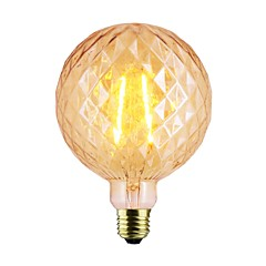 billige LED-lyspærer-1pc 7W / 2W 140-220lm E26 / E27 LED-glødetrådspærer G125 2 LED Perler COB Dæmpbar Varm hvid 220-240V