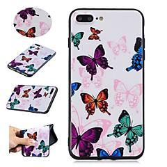 Недорогие Кейсы для iPhone 7 Plus-Кейс для Назначение Apple iPhone X / iPhone 8 С узором Кейс на заднюю панель Бабочка Мягкий ТПУ для iPhone X / iPhone 8 Pluss / iPhone 8