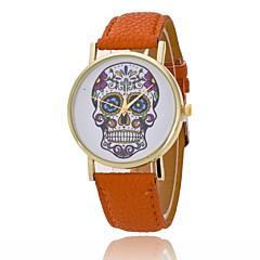 preiswerte Damenuhren-L.WEST Damen Quartz Armbanduhr Chinesisch Armbanduhren für den Alltag PU Band Freizeit Modisch Orange Braun Fuchsia Beige Himmelblau