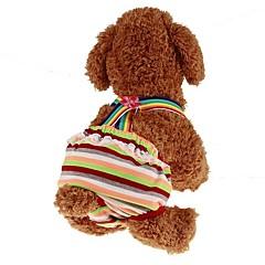 お買い得  犬用ウェア&アクセサリー-ペット用 ジャンプスーツ 犬用ウェア 縞柄 / プリンセス 虹色 中身 コスチューム ペット用 男性 スポーツ&アウトドア / ドレス