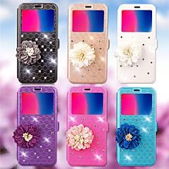 Недорогие Чехлы и кейсы для Huawei серии Y-Кейс для Назначение Huawei Y5 II / Honor 5 / Nova Бумажник для карт / Стразы / со стендом Чехол Геометрический рисунок / Цветы Твердый Кожа PU для Huawei Y5 II / Honor 5 / Nova