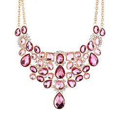 preiswerte Halsketten-Kubikzirkonia Statement Ketten  -  überdimensional Rosa 50+8.3 cm Modische Halsketten Für Party / Abend, Klub
