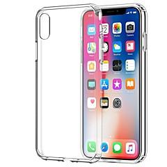 Недорогие Кейсы для iPhone 6 Plus-Кейс для Назначение Apple iPhone X / iPhone 7 Прозрачный Кейс на заднюю панель Однотонный Мягкий ТПУ для iPhone X / iPhone 8 Pluss /