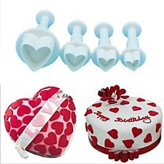 お買い得  ベイキング用品&ガジェット-ベークツール プラスチック クリエイティブ / DIY クッキー / チョコレート / ケーキのための ケーキカッター / ベーキング&ペストリーツール 4本