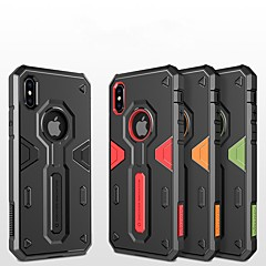 Недорогие Кейсы для iPhone X-Кейс для Назначение Apple iPhone X / iPhone 8 Защита от удара / Рельефный / броня Кейс на заднюю панель броня Твердый ПК для iPhone X /