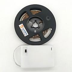 preiswerte LED Lichtstreifen-ZDM® 1m Leuchtgirlanden 300 LEDs Warmes Weiß Kühles Weiß Schneidbar Selbstklebend Für Fahrzeuge geeignet AA-Batterien angetrieben 1pc