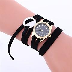 preiswerte Damenuhren-Damen Modeuhr / Kleideruhr Chinesisch Chronograph Leder Band Freizeit / Elegant Schwarz / Weiß / Rosa