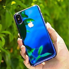 Недорогие Кейсы для iPhone 6-Кейс для Назначение Apple iPhone X / iPhone 8 Прозрачный / Градиент цвета Кейс на заднюю панель Градиент цвета Твердый ПК для iPhone X / iPhone 8 Pluss / iPhone 8
