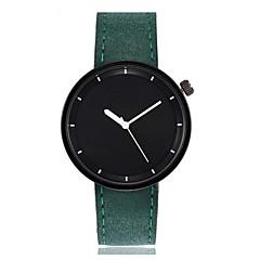 お買い得  メンズ腕時計-男性用 / 女性用 リストウォッチ 中国 大きめ文字盤 レザー バンド 多色 / バングル ブラック / 白 / レッド