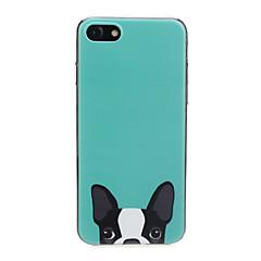 Недорогие Кейсы для iPhone-Кейс для Назначение Apple iPhone X / iPhone 7 Ультратонкий / С узором / Милый Кейс на заднюю панель С собакой / Животное Мягкий ТПУ для iPhone X / iPhone 8 Pluss / iPhone 8