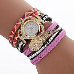 お買い得  レディース腕時計-女性用 ブレスレットウォッチ 中国 模造ダイヤモンド / カジュアルウォッチ PU バンド Heart Shape / ファッション ブラック / 白 / ブルー