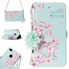 billige Etuier/covers til Huawei-Etui Til Huawei P10 Lite P8 Lite (2017) Kortholder Mønster Fuldt etui Blomst Hårdt PU Læder for P10 Lite Huawei P9 Lite P8 Lite (2017)