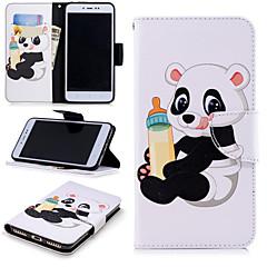 Недорогие Чехлы и кейсы для Xiaomi-Кейс для Назначение Xiaomi Redmi Примечание 5A / Redmi 4X Кошелек / Бумажник для карт / со стендом Чехол Панда Твердый Кожа PU для Redmi