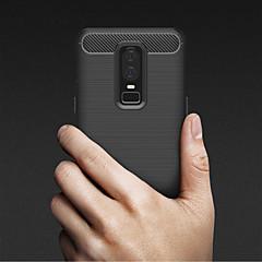 お買い得  その他のケース-ケース 用途 OnePlus OnePlus 6 エンボス加工 バックカバー ソリッド ソフト TPU のために OnePlus 6