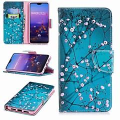 お買い得  Huawei Pシリーズケース/ カバー-ケース 用途 Huawei P20 Pro / P20 lite ウォレット / カードホルダー / スタンド付き フルボディーケース フラワー ハード PUレザー のために Huawei P20 / Huawei P20 Pro / Huawei P20 lite / P10 Plus / P10 Lite / P10
