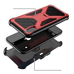 Недорогие Кейсы для iPhone 7 Plus-Кейс для Назначение Apple iPhone X / iPhone 8 Защита от удара / со стендом Чехол броня Твердый ПК для iPhone X / iPhone 8 Pluss / iPhone 8