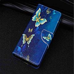 Недорогие Чехлы и кейсы для Sony-Кейс для Назначение Sony Xperia XA2 Ultra / Xperia XZ2 Бумажник для карт / Кошелек / со стендом Чехол Бабочка Твердый Кожа PU для Xperia