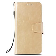 Недорогие Чехлы и кейсы для Sony-Кейс для Назначение Sony Xperia XA2 / Xperia L2 Бумажник для карт / Кошелек / со стендом Чехол Однотонный Твердый Кожа PU для Xperia XZ2