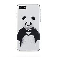 Недорогие Кейсы для iPhone 6 Plus-Кейс для Назначение Apple iPhone X / iPhone 7 Ультратонкий / С узором / Милый Кейс на заднюю панель С сердцем / Пейзаж Мягкий ТПУ для