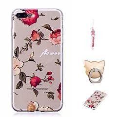 Недорогие Кейсы для iPhone 7 Plus-Кейс для Назначение Apple iPhone X / iPhone 8 Plus С узором Кейс на заднюю панель Цветы Мягкий ТПУ для iPhone X / iPhone 8 Pluss / iPhone