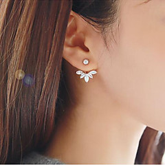cheap -Women's Geometric Stud Earrings - Floral / Botanicals, Leaf, Flower Sweet Gold / Silver For Daily Street