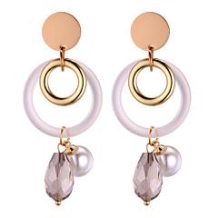 お買い得  イヤリング-タッセル ドロップイヤリング  -  人造真珠 ドロップ 欧風, ファッション グレー 用途 パーティー