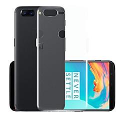 お買い得  その他のケース-ケース 用途 OnePlus OnePlus 5T クリア バックカバー ソリッド ソフト TPU のために OnePlus 5T