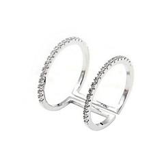 preiswerte Ringe-Damen Bandring - vergoldet Böhmische, Elegant 7 Silber Für Party / Geburtstag / Alltag