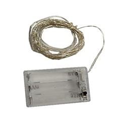 preiswerte LED Lichtstreifen-6m Leuchtgirlanden 60 LEDs Warmes Weiß / Mehrfarbig Dekorativ AA-Batterien angetrieben 1pc