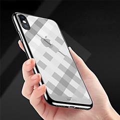Недорогие Кейсы для iPhone-Кейс для Назначение Apple iPhone X / iPhone 8 Покрытие / Ультратонкий / Рельефный Кейс на заднюю панель Полосы / волосы Мягкий ТПУ для