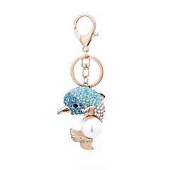 cheap Keychains-Keychain Jewelry Fuchsia / Light Blue Alloy Casual / Fashion Gift / Daily