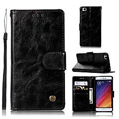 Недорогие Чехлы и кейсы для Xiaomi-Кейс для Назначение Xiaomi Mi 5s Кошелек / Бумажник для карт / со стендом Чехол Однотонный Твердый Кожа PU для Xiaomi Mi 5s