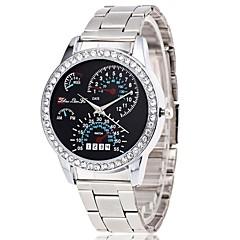 preiswerte Herrenuhren-Damen Quartz Armbanduhr Chinesisch Chronograph / Großes Ziffernblatt / Imitation Diamant Legierung Band Luxus / Modisch Silber
