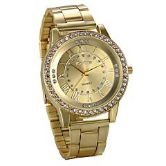 preiswerte Herrenuhren-Herrn Armbanduhr Chinesisch Chronograph / Großes Ziffernblatt / Imitation Diamant Legierung Band Luxus / Elegant Silber / Gold / Rotgold