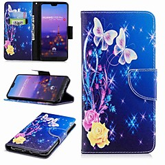 cheap Cases / Covers for Huawei-Case For Huawei P20 lite P20 Pro Card Holder Wallet with Stand Flip Pattern Full Body Cases Butterfly Hard PU Leather for Huawei P20 lite