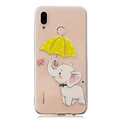 お買い得  Huawei Pシリーズケース/ カバー-ケース 用途 Huawei P20 Pro / P10 Plus クリア / パターン バックカバー 象 ソフト TPU のために Huawei P20 / Huawei P20 Pro / Huawei P20 lite / P10 Lite