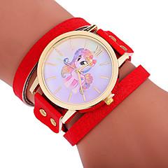 preiswerte Damenuhren-Xu™ Damen Armband-Uhr / Armbanduhr Chinesisch Kreativ / Armbanduhren für den Alltag / bezaubernd PU Band Zeichentrick / Modisch Schwarz / Rot / Braun