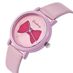 お買い得  レディース腕時計-女性用 ドレスウォッチ / リストウォッチ 中国 新デザイン / カジュアルウォッチ / 愛らしいです レザー バンド カトゥーン / ファッション 白 / ブルー / ピンク