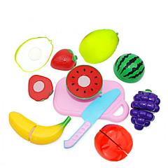 abordables Juegos de imaginación-Conjuntos de juguetes de cocina Juegos de Rol Cortadores de Fruta y Vegetales Fruta y verdura Creativo Novedades El plastico Chico Niños