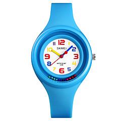 お買い得  レディース腕時計-SKMEI 女性用 リストウォッチ 日本産 新デザイン / 耐水 / カジュアルウォッチ PU バンド ファッション / ミニマリスト ブラック / 白 / レッド