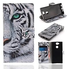 Недорогие Чехлы и кейсы для Sony-Кейс для Назначение Sony Xperia XA2 Кошелек / Бумажник для карт / со стендом Чехол Животное Твердый Кожа PU для Xperia XA2