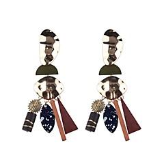 preiswerte Ohrringe-1 Paar Damen Nicht übereinstimmend Hohl Tropfen-Ohrringe - Harz Spitze damas Einfach Europäisch Modisch Schmuck Braun / Rot / Blau Für Strasse Professionell
