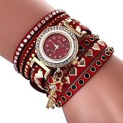 preiswerte Damenuhren-Damen Armband-Uhr Chinesisch Armbanduhren für den Alltag / lieblich / Imitation Diamant PU Band Heart Shape / Böhmische Schwarz / Weiß /